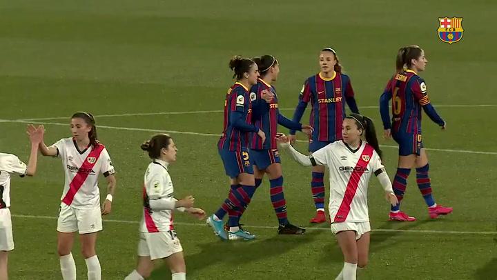 Resumen del Barça - Rayo de la Liga femenina