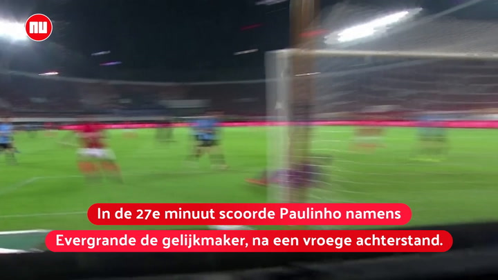 Paulinho glijdt coach Cannavaro onderuit na hattrick