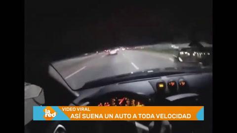 Viral: Hombre se graba manejando a toda velocidad
