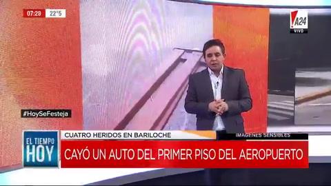 Un auto cayó desde el primer piso del aeropuerto de Bariloche