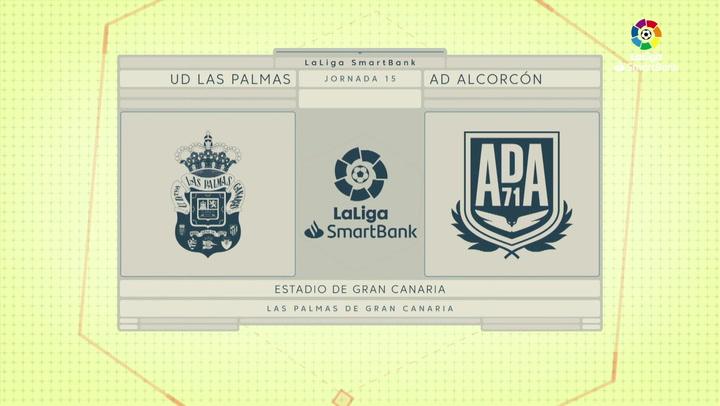 LaLiga SmartBank (J15): Resumen y goles del Las Palmas 1-1 Alcorcón