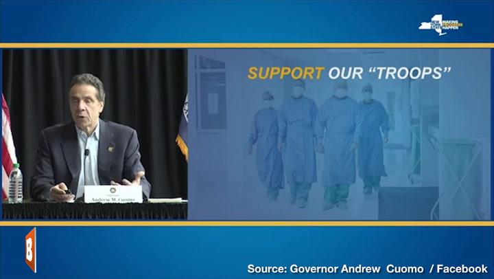 NY Gov. Andrew Cuomo Makes Plea to Nation's Healthcare Workers: 'Please Come Help Us'