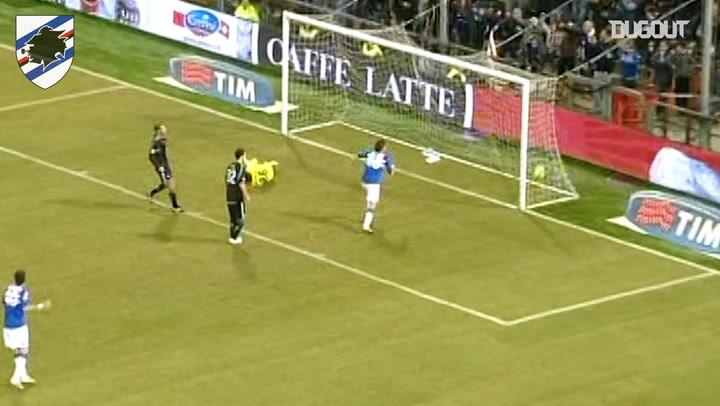 El golazo de Cassano con la Sampdoria ante la Lazio
