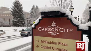 Snow blankets Nevada's capital