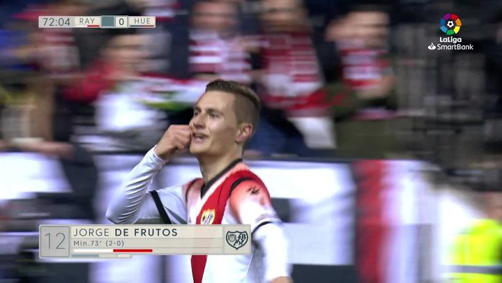 Gol de Jorge De Frutos del Rayo Vallecano ante el Huesca
