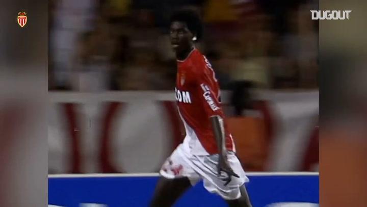 Adebayor's first goal at Monaco