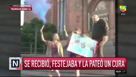 Un cura pateó a una chica en la Catedral de La Plata