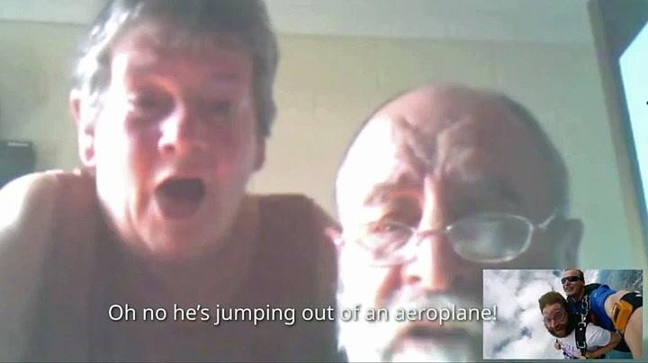 Sjokkerte foreldrene: – Jeg må hoppe ut av et fly nå