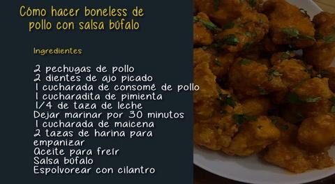 Cómo hacer boneless de pollo con salsa búfalo