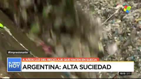 Argentina: alta suciedad. En materia de reciclaje estamos a años luz de Suecia