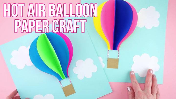 Paper Hot Air Balloon Easy Colorful Summer Kids Craft