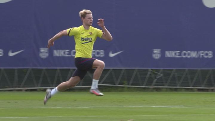 De Jong sigue preparando con ilusión el regreso a la competición en Champions League