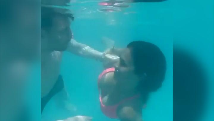 El romántico y refrescante vídeo de Leo Messi y Antonela Roccuzzo bajo el agua que está arrasando
