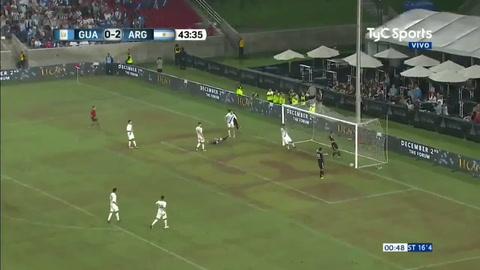 La selección goleó 3 a 0 a Guatemala en el amistoso