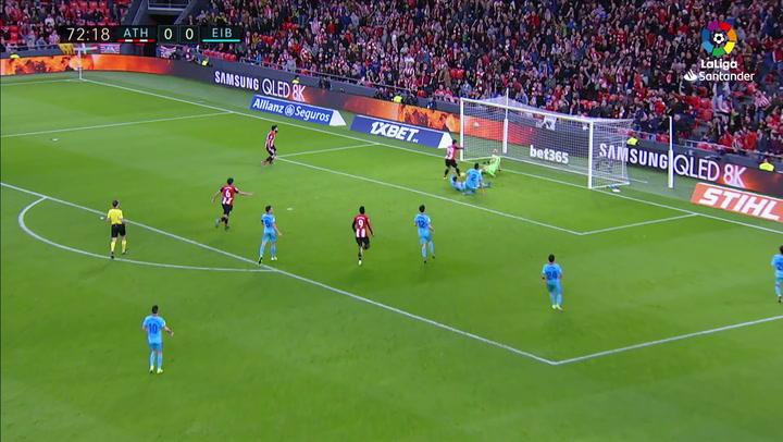 El VAR anuló el gol del Athletic al Eibar en el minuto 73