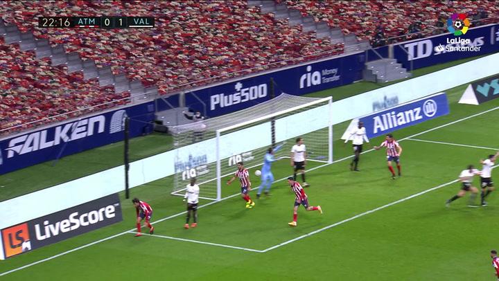 Gol de Joao Félix (1-1) en el Atlético 3-1 Valencia