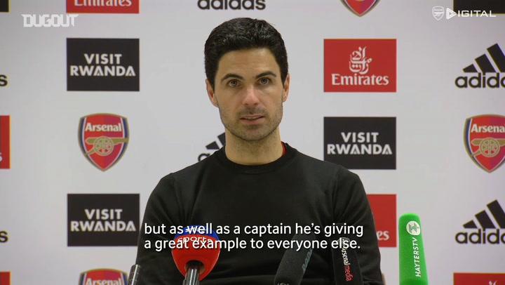 Mikel Arteta: Pierre-Emerick Aubameyang has a future at Arsenal