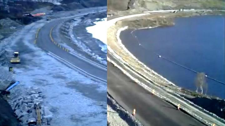 Her bygges en norsk vei på under 2 minutter