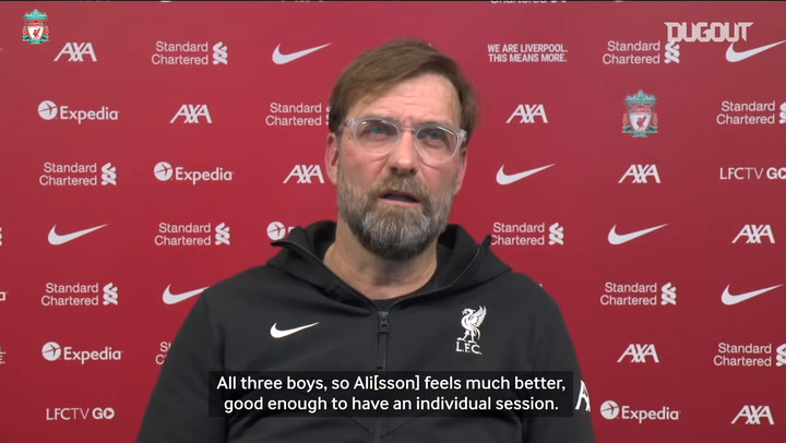 Klopp gives update on Kabak, Davies, Mané, Fabinho and Alisson