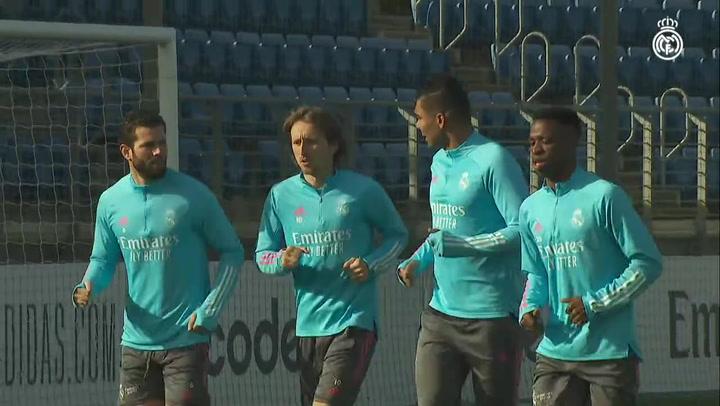 ElReal Madrid prepara el partido ante el Getafe