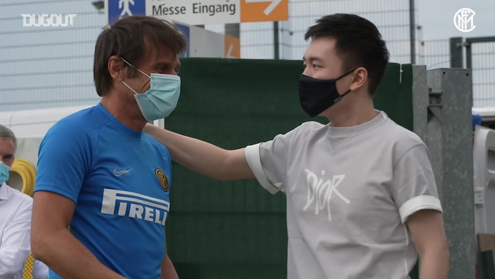 Inter president Steven Zhang visit team before Europa League semi-final