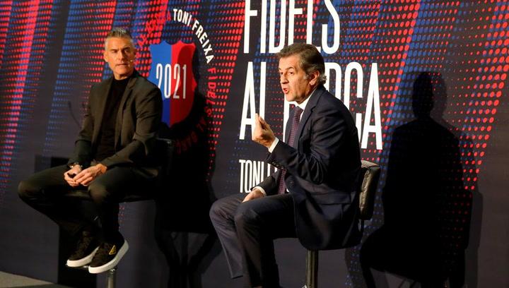 Toni Freixa presenta su equipo para las elecciones del Barça