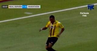 Rony Martínez aumenta a 2-0 el duelo de Real España sobre Marathón