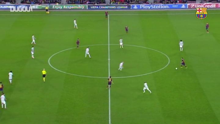 أهداف جماعية: برشلونة يسجل بعد ٤٠ تمريرة أمام سيلتك