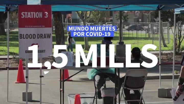 Más de 1,5 millones de decesos en el mundo por COVID-19