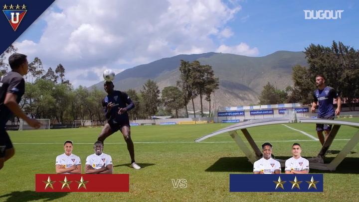 Liga de Quito's game of football tennis