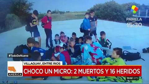 Choque fatal en un micro que trasladaba a chicos en Entre Ríos