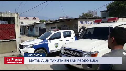 Matan a un taxista en San Pedro Sula