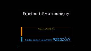 Experience en chirurgie ouverte de type E-vita