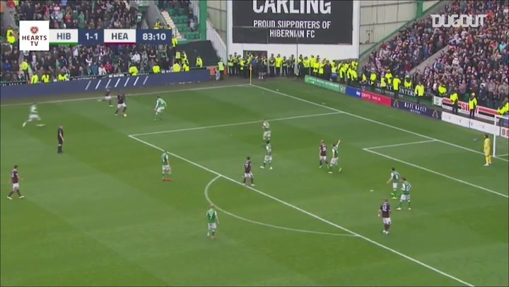 Aaron Hickey's long-range effort stuns Hibernian