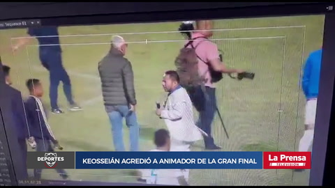 Keosseián agredió a animador de la gran final Motagua-Olimpia