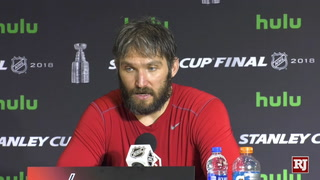 Alex Ovechkin talks about hosting a Stanley Cup game in Washington D.C.