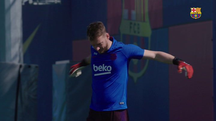 Primera imagen del entreno del FC Barcelona en grupo tras el confinamiento
