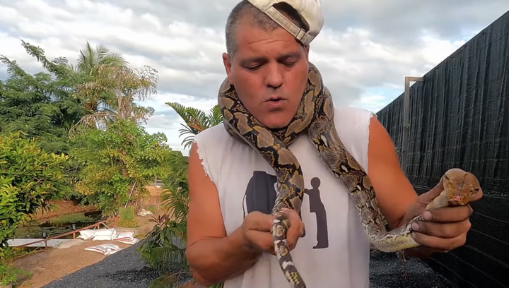 Yuyee pilla una serpiente