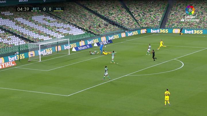Gol de Gerard Moreno (p.) (0-1) en el Betis 0-2 Villarreal