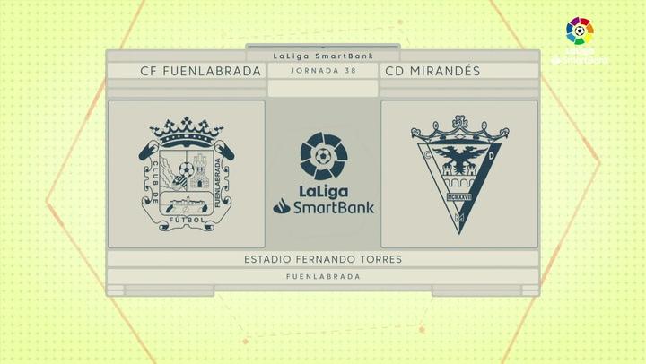 LaLiga SmartBank (J.38): Fuenlabrada 2-2 Mirandés