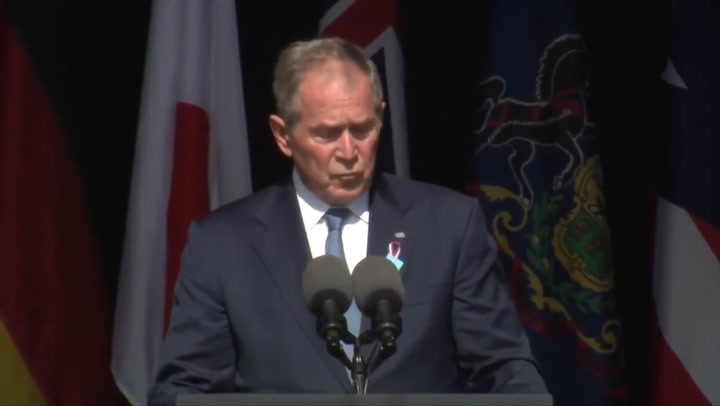 George W. Bush says US faces violence threat 'from within' at Pennsylvania 9/11 memorial