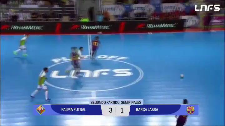 Resumen del Palma - Barça Lassa, segundo partido de semifinales del playoff de Liga de fútbol sala
