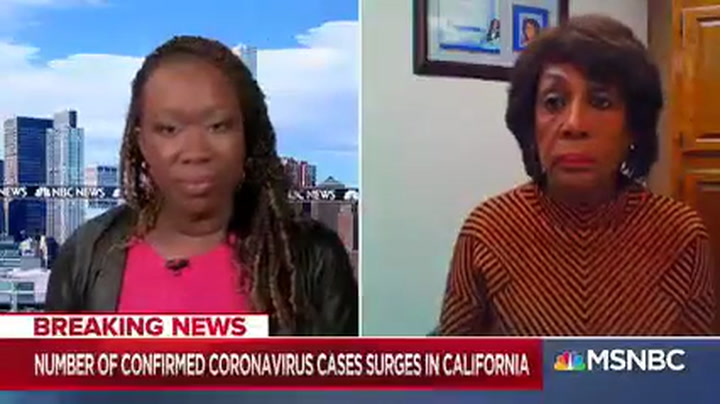Waters: Trump 'Ignored' Early Warnings on Coronavirus -- He Has 'Gotten Away With a Lot of Lying'