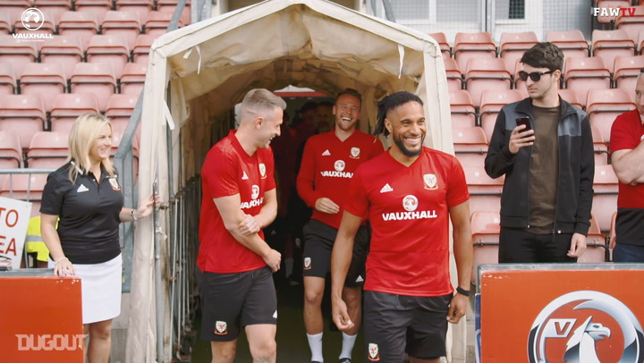 Wales treat fans to open training session!