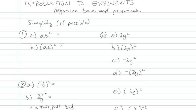 Introduction to Exponents - Problem 4