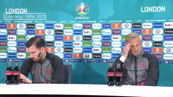 'Have you ever won it?': Denmark's Kasper Schmeichel mocks suggestion of football 'coming home'