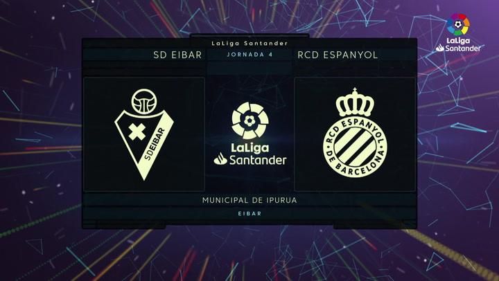 Resumen y goles del Eibar 1-2 Espanyol