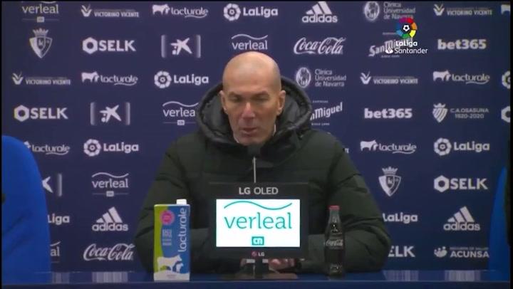 """Zidane: """"Lo de hoy no ha sido un partido de fútbol; se tenía que haber suspendido."""""""
