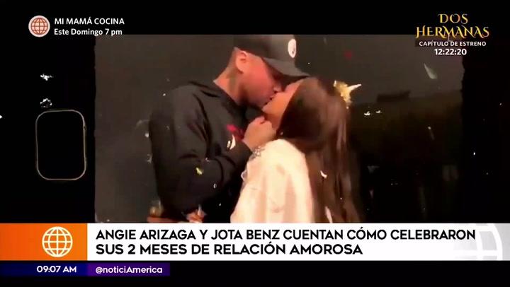 Jota Benz y Angie Arizaga celebraron sus dos meses relación de esta forma