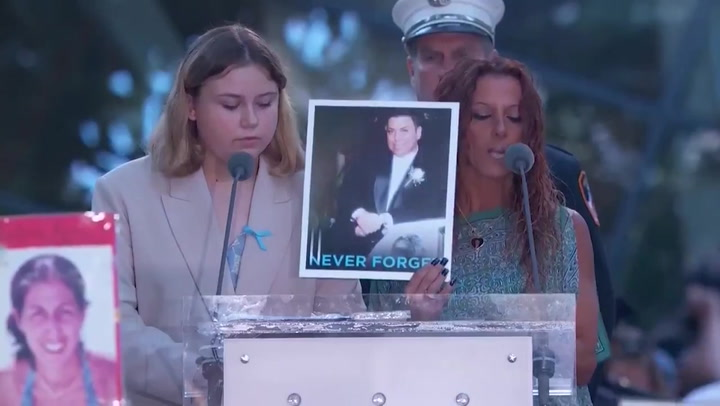 9/11 anniversary: Emotional moment family member breaks down while paying tribute